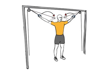 Curl biceps con cable-polea brazos en cruz