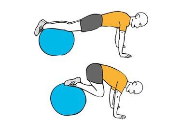 Encogimiento de piernas sobre pelota de pilates
