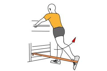 Extensión de cadera con banda elastica