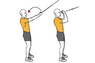 Curl de biceps con cable-polea de pie