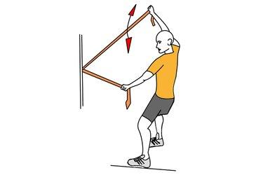 Apertura en vertical de brazos con banda elastica