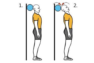 Extensión cervical apoyado en pelota
