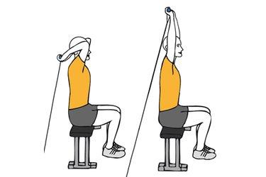 Extensión de triceps con cable-polea sentados