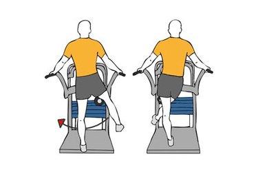 Aducción de cadera en maquina de pie