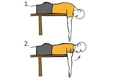 Extensión cervical y de hombros con brazos estirados