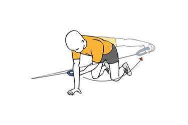 Elevación lateral de hombro con cable-polea en cuadripedia