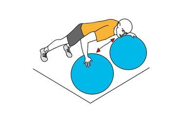 Desplazamiento horizontal sobre pelotas de pilates