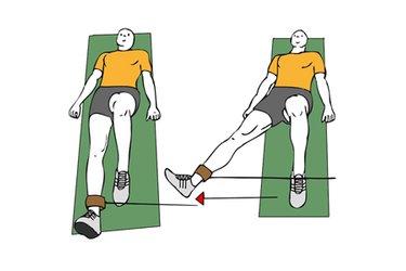 Abducción de cadera con cable-polea acostado en el suelo