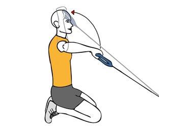 Rotación posterior de hombro con cable-polea