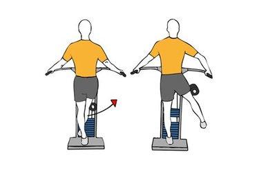 Abducción de cadera en máquina de pie