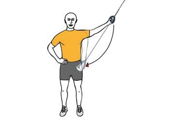 Aducción de hombro con cable-polea de pie