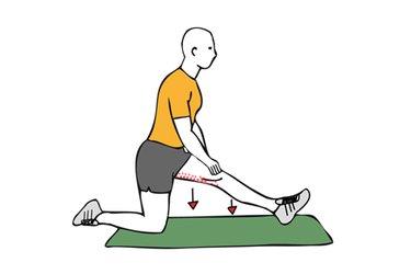 Estiramiento de flexores de una pierna