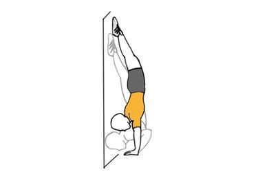 Press de hombros en equilibrio vertical