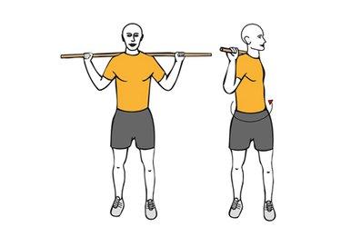 Giros de cintura con barra o pica