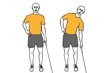 Flexión lateral de tronco con cable-polea de pie