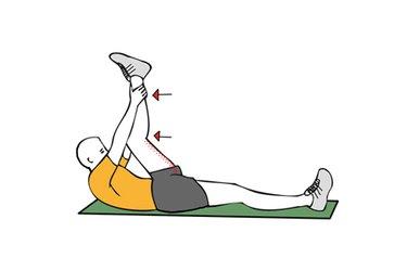 Estiramiento de flexores de cadera boca arriba