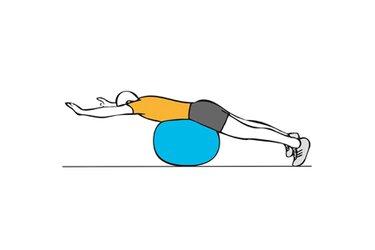 Plancha sobre pelota de pilates