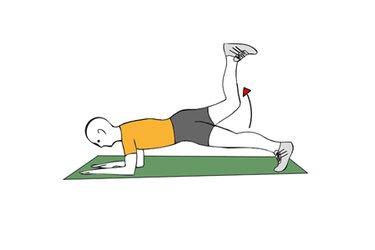 Extension de cadera con la pierna flexionada