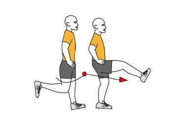 Extensión y flexión de cadera de  pie