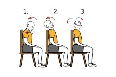 Extensión y rotación cervical sentado
