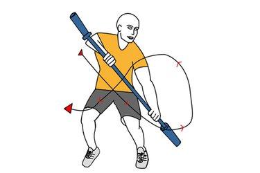 Paladas de kayak con barra