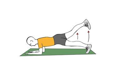 Extension de cadera con pierna estirada