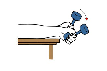Flexion de muñeca con mancuerna tipo martillo