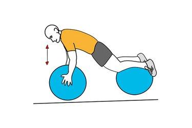 Flexiones de brazos sobre pelotas de pilates