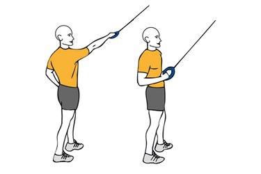 Remo con un brazo de pie con cable-polea