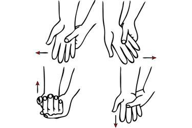 Movimientos de muñeca con oposición de la otra mano