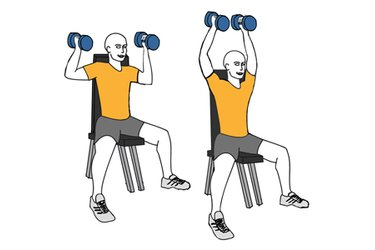 Press de hombros con agarre neutro sentado