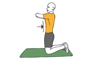 Contracción isométrica de abdominales de rodillas