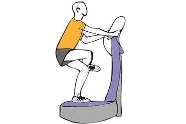 Equilibrio sobre una pierna flexionada sobre plataforma vibratoria