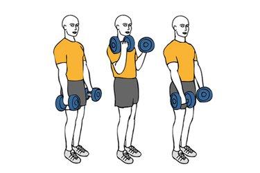 Curl de biceps con giro supinación y pronación o Zottman