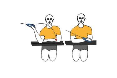 Rotación de hombro con cable-polea codo apoyado