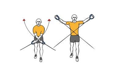 Cruces inversos con cable-polea de pie