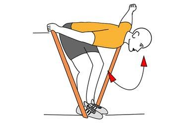 Aperturas de hombros con banda elastica e inclinado adelante