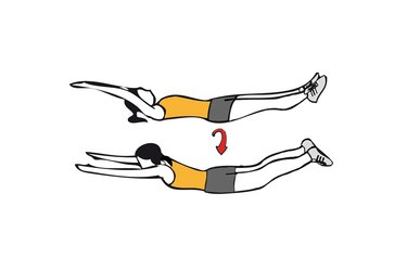 Giros del cuerpo con brazos y piernas estiradas