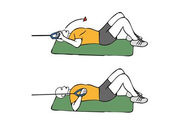 Rotación de hombro con cable-polea tumbado