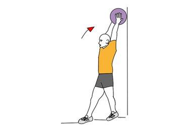 Elevación frontal de balon medicinal hasta la vertical