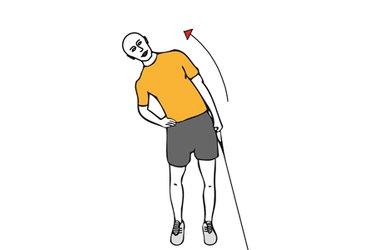 Flexión lateral de tronco cable-polea de pie
