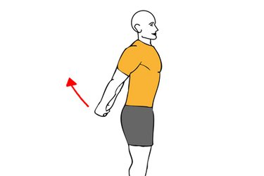Estiramiento pectoral con hiperextensión de hombros