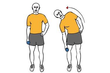 Flexión lateral de tronco con mancuerna