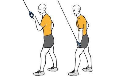 Extensión de triceps a una mano con cable-polea
