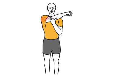 Estiramiento de hombro con brazo en aducción horizontal