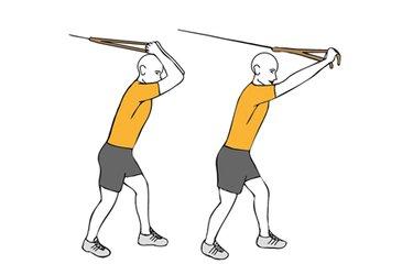 Extensión de triceps con cable-polea de pie