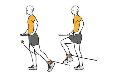 Flexión de cadera con cable-polea de pie
