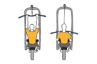 Jalón dorsal con polea alta y agarre cerrado