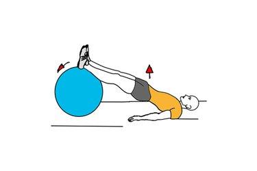 Elevación de la pelvis con pelota de pilates