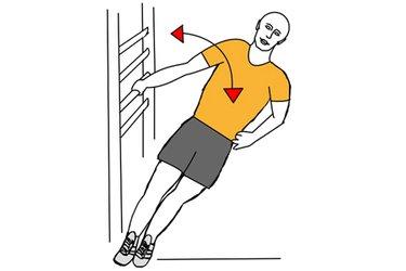Flexion de brazo cogido lateral a espaldera